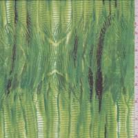 Bright Lime Seismic Silk Chiffon