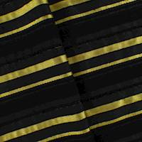 Black/Yellow Stripe Woven