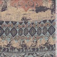*2 3/8 YD PC--Blue Aztec Print Chiffon