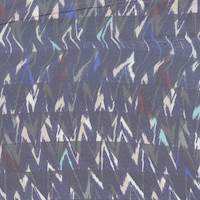 *5 3/8 YD PC--Blue/Grey Zigzag Silk Chiffon