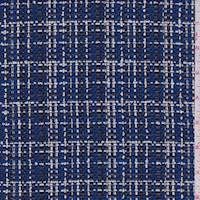 Royal Plaid Wool Blend Boucle