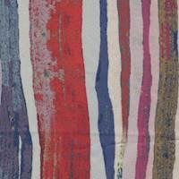 *3 3/8 YD PC--Multi Colored Striped Nylon