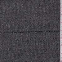 Steel Grey Stripe Wool Coating
