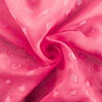 Highlighter Pink Heart Chiffon