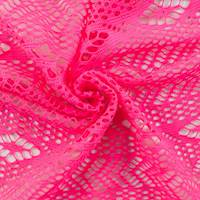 Hot Pink Mesh Lace Knit