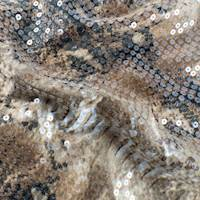 Tortilla Brown/Multi Printed Sequin Charmeuse