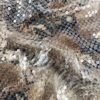 Tortilla Brown/Multi Printed Sequin Charmeuse