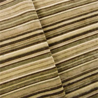 1 YD PC--Beige/Multi Faux Velvet Stripe Home Decorating Fabric