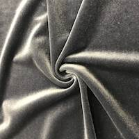 Steel Gray Stretch Velvet