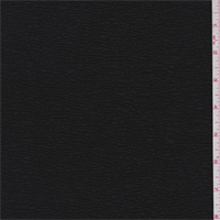 *2 1/2 YD PC--Jet Black Pucker Knit