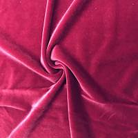 Ruby Red Stretch Velvet