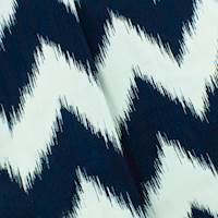 Navy Blue/White Ikat Double Jacquard Home Decorating Fabric