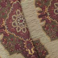 Sangria Red/Brown Persian Jacquard Home Decorating Fabric