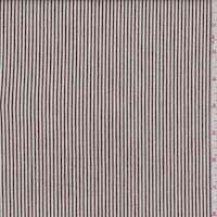 *2 YD PC--Brown/White Ticking Stripe Stretch Denim