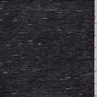 Black Slub Rayon Jersey Knit