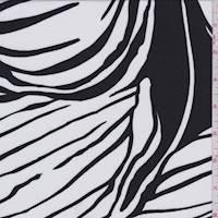 Black/White Lily Rayon Challis