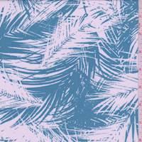 Turquoise/White Palm Rayon Challis