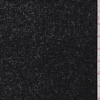 *1 1/8 YD PC--Jet Black Wool Blend Sweater Knit