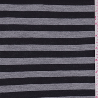 *1 YD PC--Black/Grey Stripe Jersey Knit