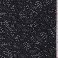 Black/Grey Lace Print Activewear