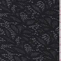 Black/Grey Lace Print Activewear