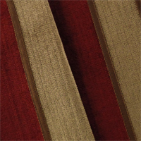 *3 YD PC--Red/Beige Stripe Chenille Home Decorating Fabric