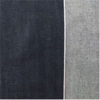 *1 7/8 YD PC--Deep Navy Blue Cotton Slub Japanese Selvedge Denim