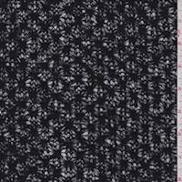 *5 3/8 YD PC--Black Floral Sweater Knit