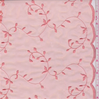 *4 5/8 YD PC--Coral Vine Embroidered Organza