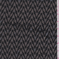 *4 3/4 YD PC--Black Metallic Chevron Chiffon