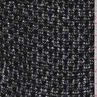 *3 1/2 YD PC--Black Floral Sweater Knit
