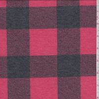 *4 YD PC--Bright Red/Black Buffalo Plaid Jersey Knit