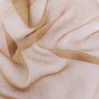 Buff Brown Silk Crinkle Chiffon