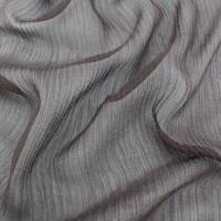 Deep Brown Silk Crinkle Chiffon