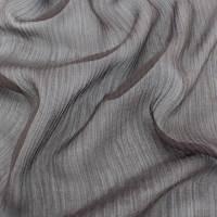 Deep Brown Silk Crinkle Chiffon