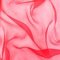 Fuchsia Red Silk Crinkle Chiffon