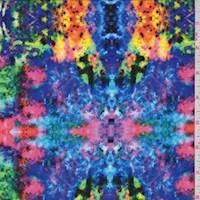 *1 3/4 YD PC--Multi Tie Dye Print Crepe de Chine