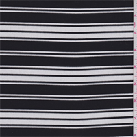 *4 YD PC--Black/White Stripe Knit