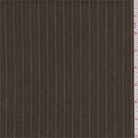 *1 YD PC--Mocha/White Stripe Denim Look Suiting