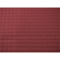 *3 YD PC--Berry Red Quilted Grid Home Decorating Fabric