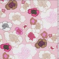 Pink Peach Floral Cotton Lawn