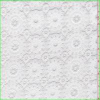 Bright White Circular Medallion Lace