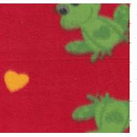 *2 YD PC--Red Fleece with Frog
