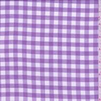 *1 3/4 YD PC--Orchid Purple Gingham Check Lawn