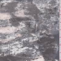 Black Multi Mottled Silk Chiffon