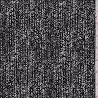 *2 YD PC--Black/Pearl Stretch Suiting