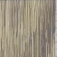 Chartreuse Brush Pinstripe Silk Chiffon