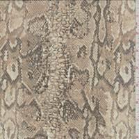 Clay Snakeskin Silk Chiffon