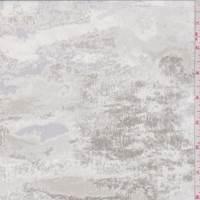 White/Grey/Taupe Marble Silk Chiffon