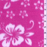 *2 YD PC--Pink Floral Fleece